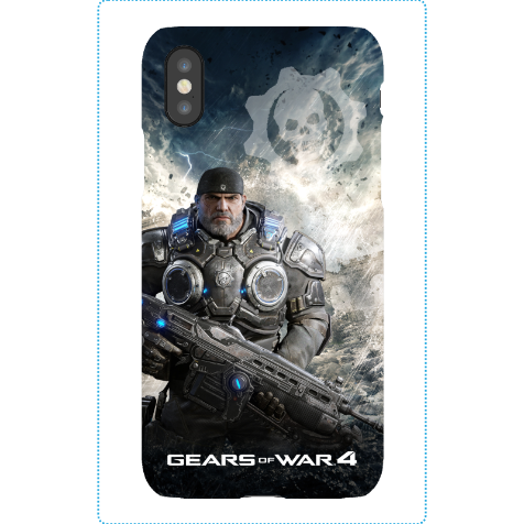 iPhone X Tough Case Matte: Gears of War 4 Marcus Armored