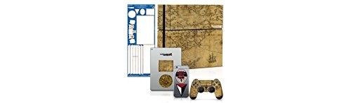 Uncharted 4 Map - PS4 Console and Controller Gaming Skin Pack - Officially Licensed by PlayStation - Controller Gear