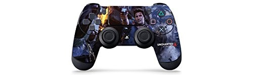Uncharted 4 Fire Fight - PS4 Controller Skin - Officially Licensed by PlayStation - Controller Gear