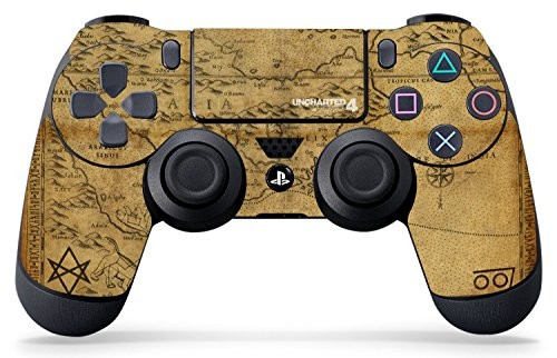 Uncharted 4 Map - PS4 Controller Skin - Officially Licensed by PlayStation - Controller Gear