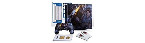 Uncharted 4 Fire Fight - PS4 PRO Vertical Console and Controller Gaming Skin Pack - Officially Licensed by PlayStation - Controller Gear