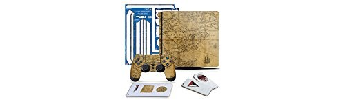 Uncharted 4 Map - PS4 SLIM Vertical Console and Controller Gaming Skin Pack - Officially Licensed by PlayStation - Controller Gear