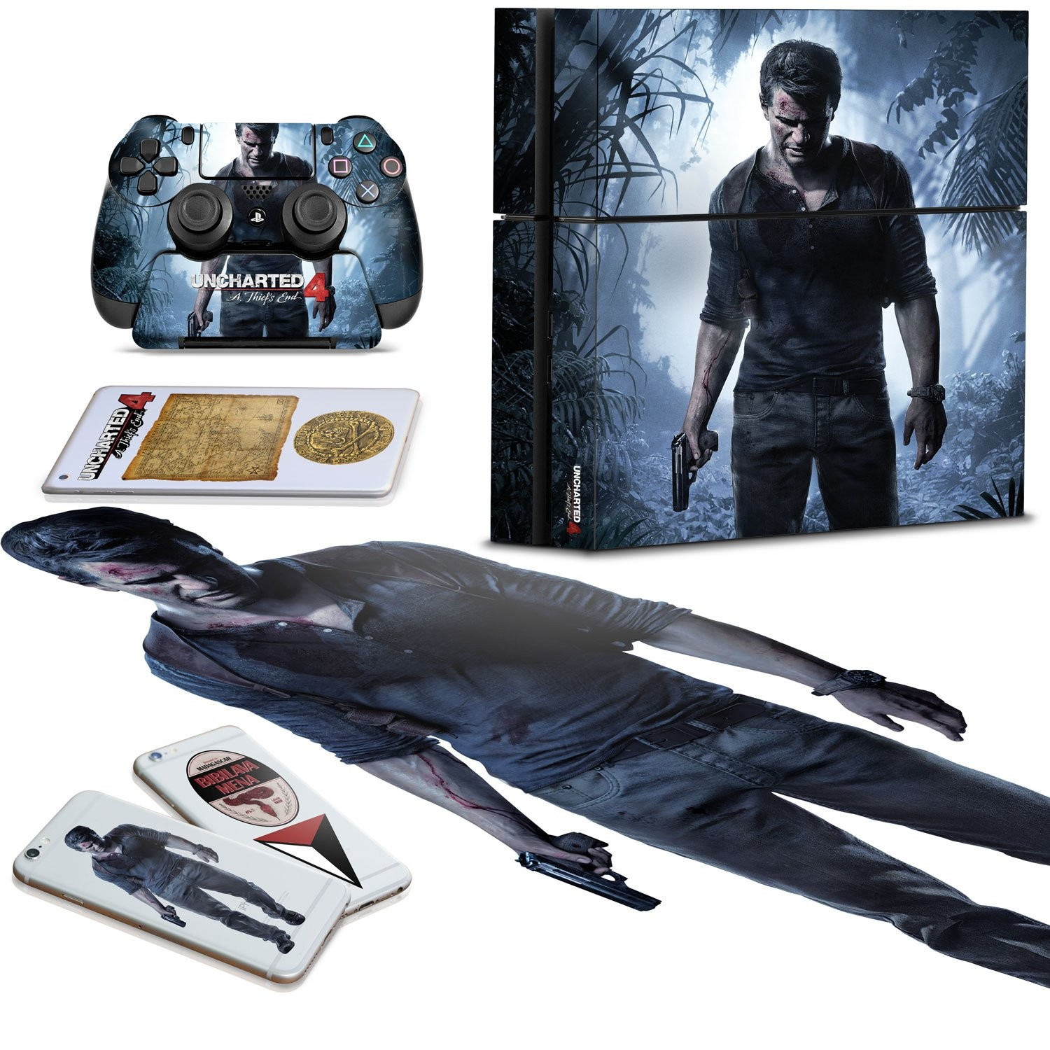 Uncharted 4 - Ultimate Gaming Skin Pack - Officially Licensed
