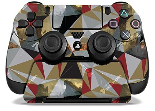 Uncharted 4 Madagascar - PS4 Skin Set for Controller and Controller Stand - Officially Licensed by Playstation - Controller Gear