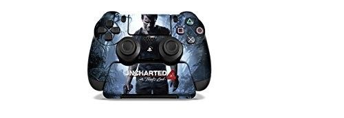 Uncharted 4 A Thief's End - PS4 Controller and Controller Stand Skin Set - Officially Licensed by Playstation - Controller Gear
