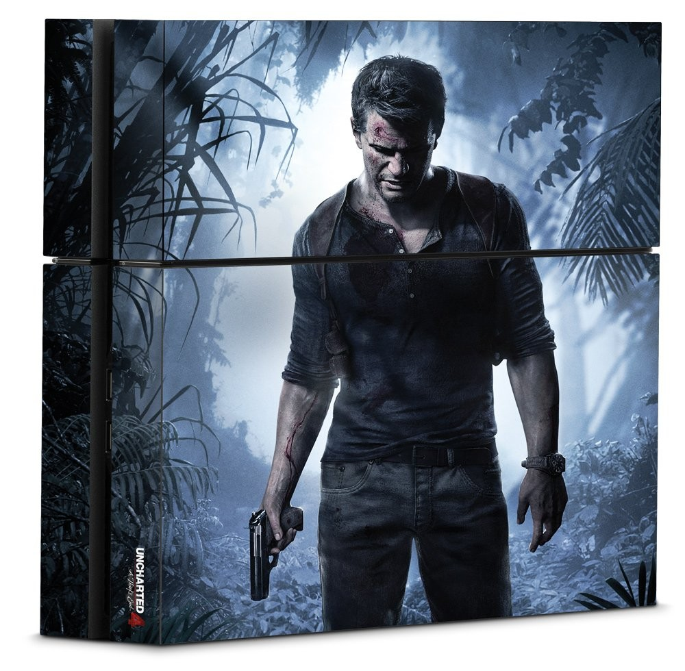 Uncharted 4 A Thief's End - PS4 Console Skin - Officially Licensed Playstation - Controller Gear