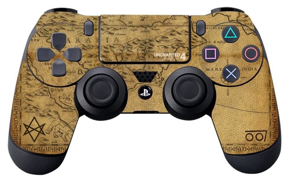 Uncharted 4 A Thief's Map - PS4 Controller Skin - Officially Licensed by Playstation - Controller Gear