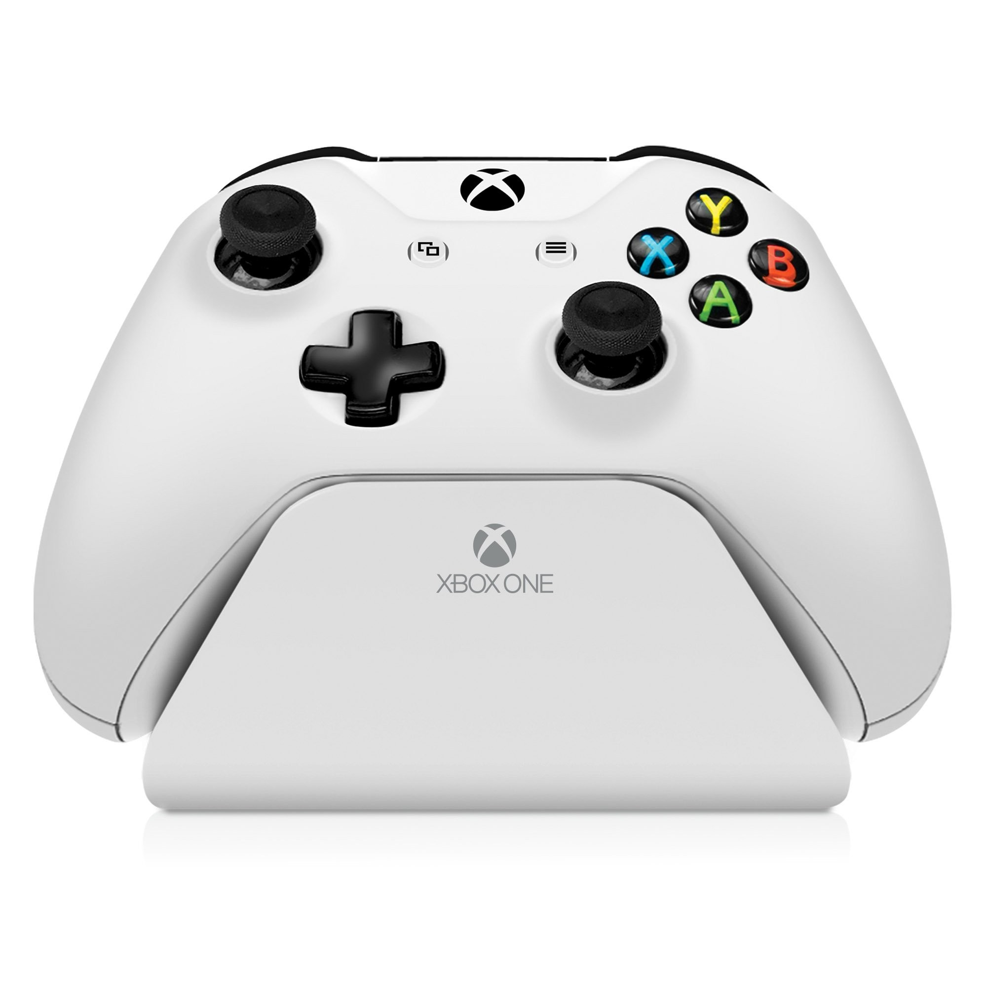 Xbox One Controller Stand with an all white color, Image 1