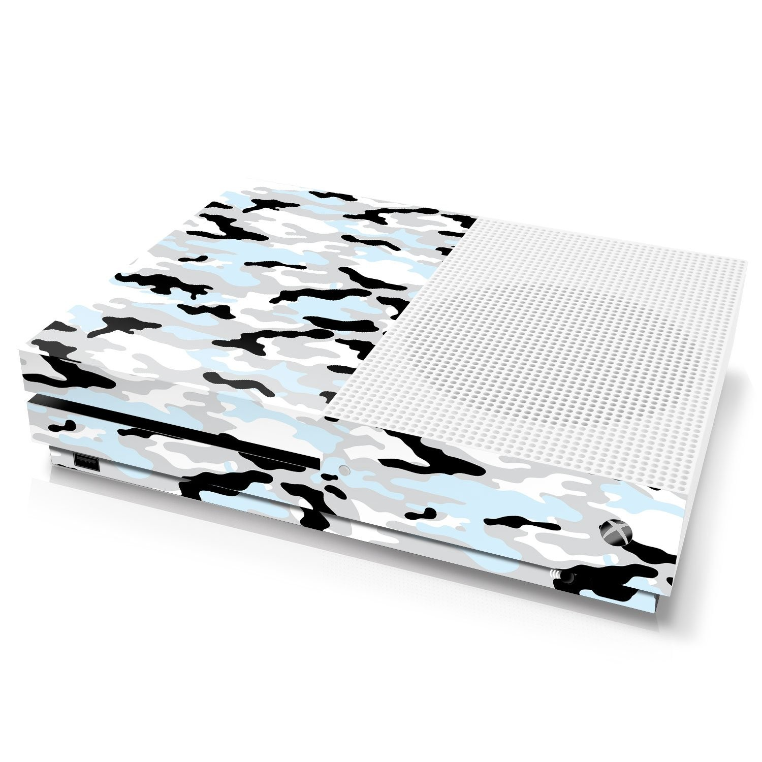 Xbox One S Console Skin - Camouflage: Snow - Officially Licensed by Xbox