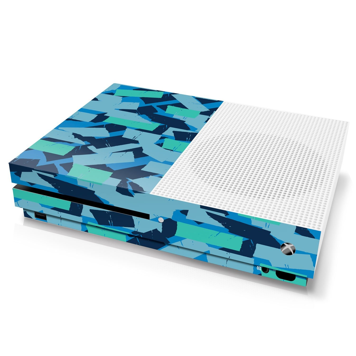 Xbox One S Console Skin - Camouflage: Seal Torn Tape - Officially Licensed by Xbox