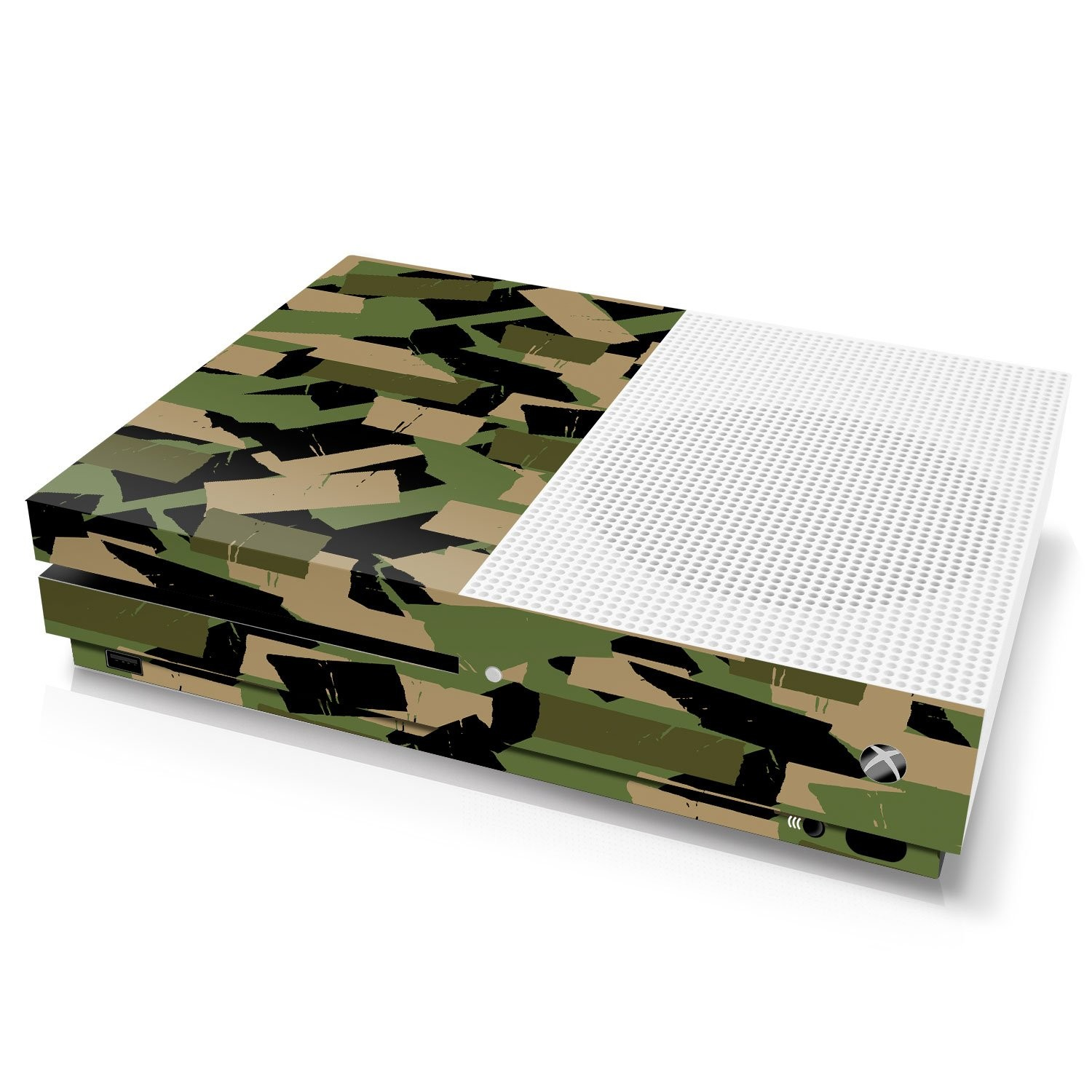 Xbox One S Console Skin - Camouflage: Forest Torn Tape - Officially Licensed by Xbox