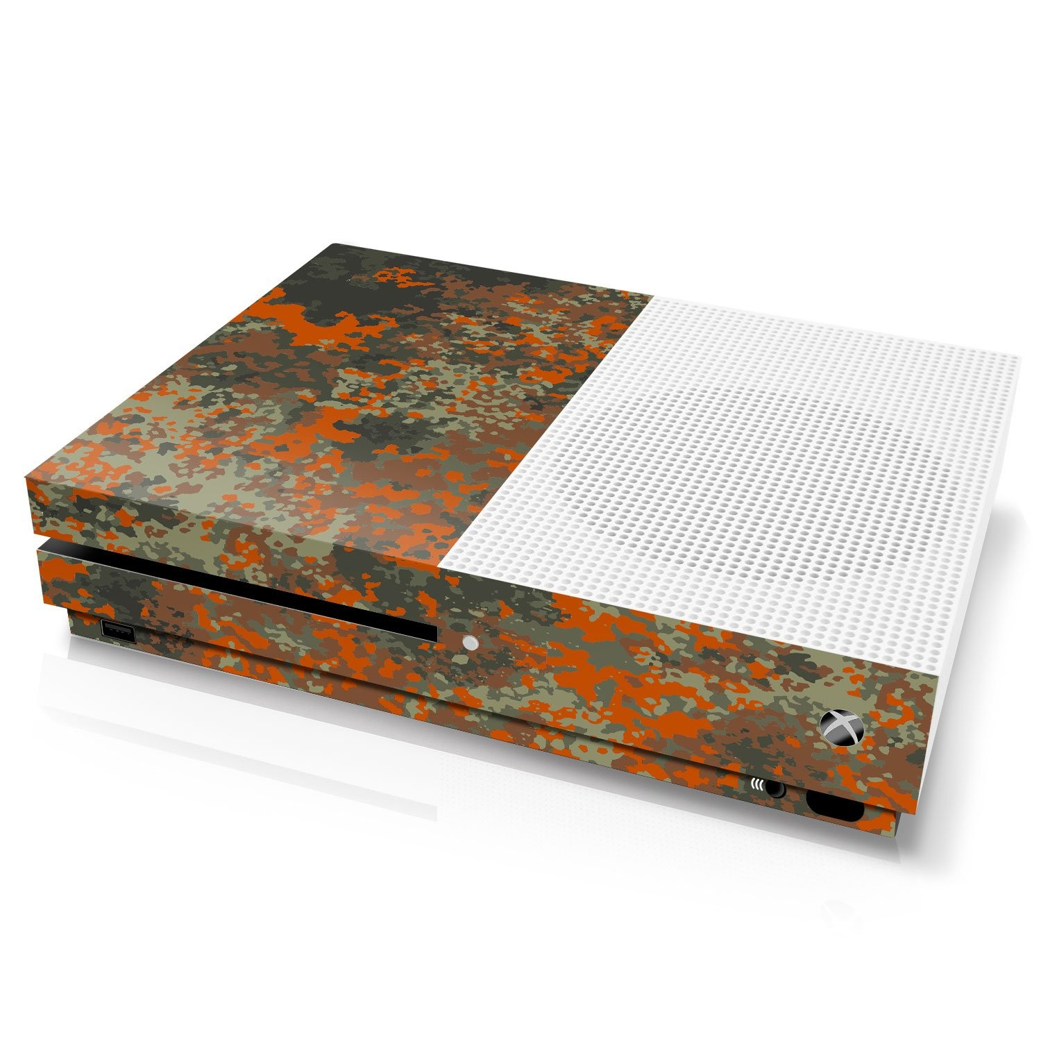 Xbox One S Console Skin - Camouflage: Flecktarn Splatter - Officially Licensed by Xbox