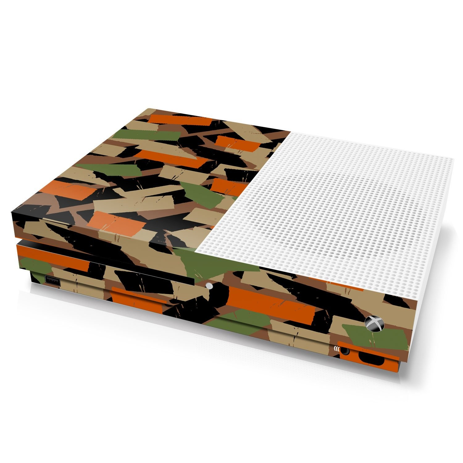 Xbox One S Console Skin - Camouflage: Flecktarn Torn Tape - Officially Licensed by Xbox