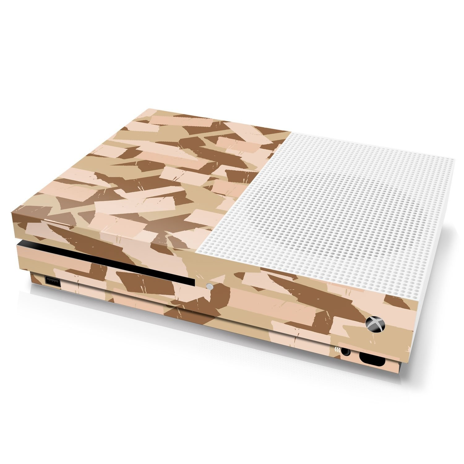 Xbox One S Console Skin - Camouflage: Desert Torn Tape - Officially Licensed by Xbox