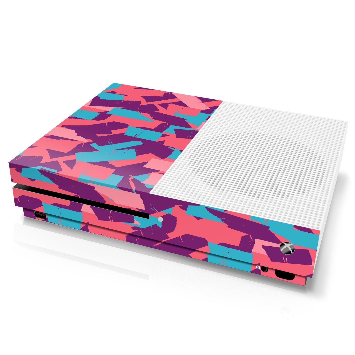 Xbox One S Console Skin - Camouflage: Bubble Gum Torn Tape - Officially Licensed by Xbox