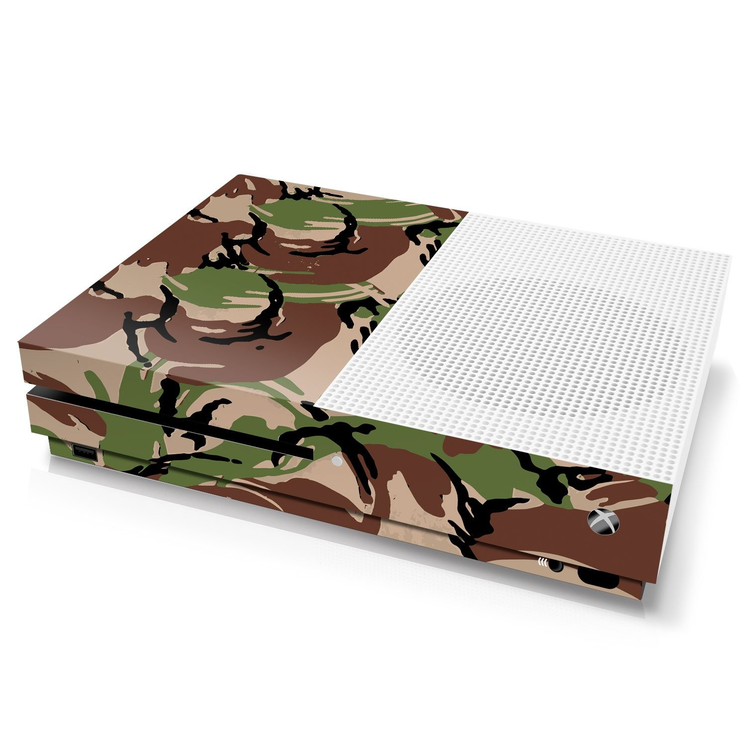Xbox One S Console Skin - Camouflage: British DPM - Officially Licensed by Xbox