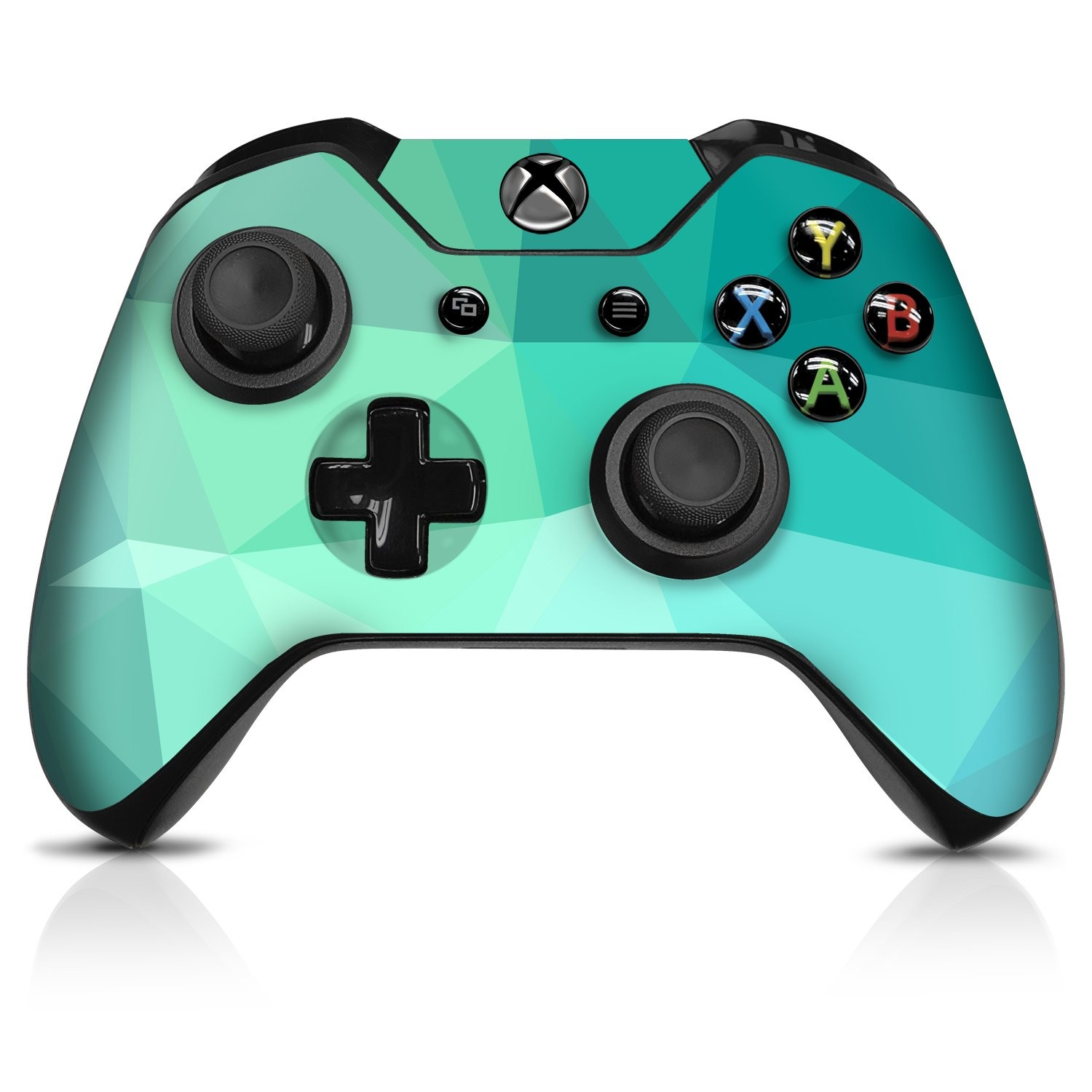 Teal Poly Xbox One Controller Skin - Officially Licensed by Xbox - Controller Gear