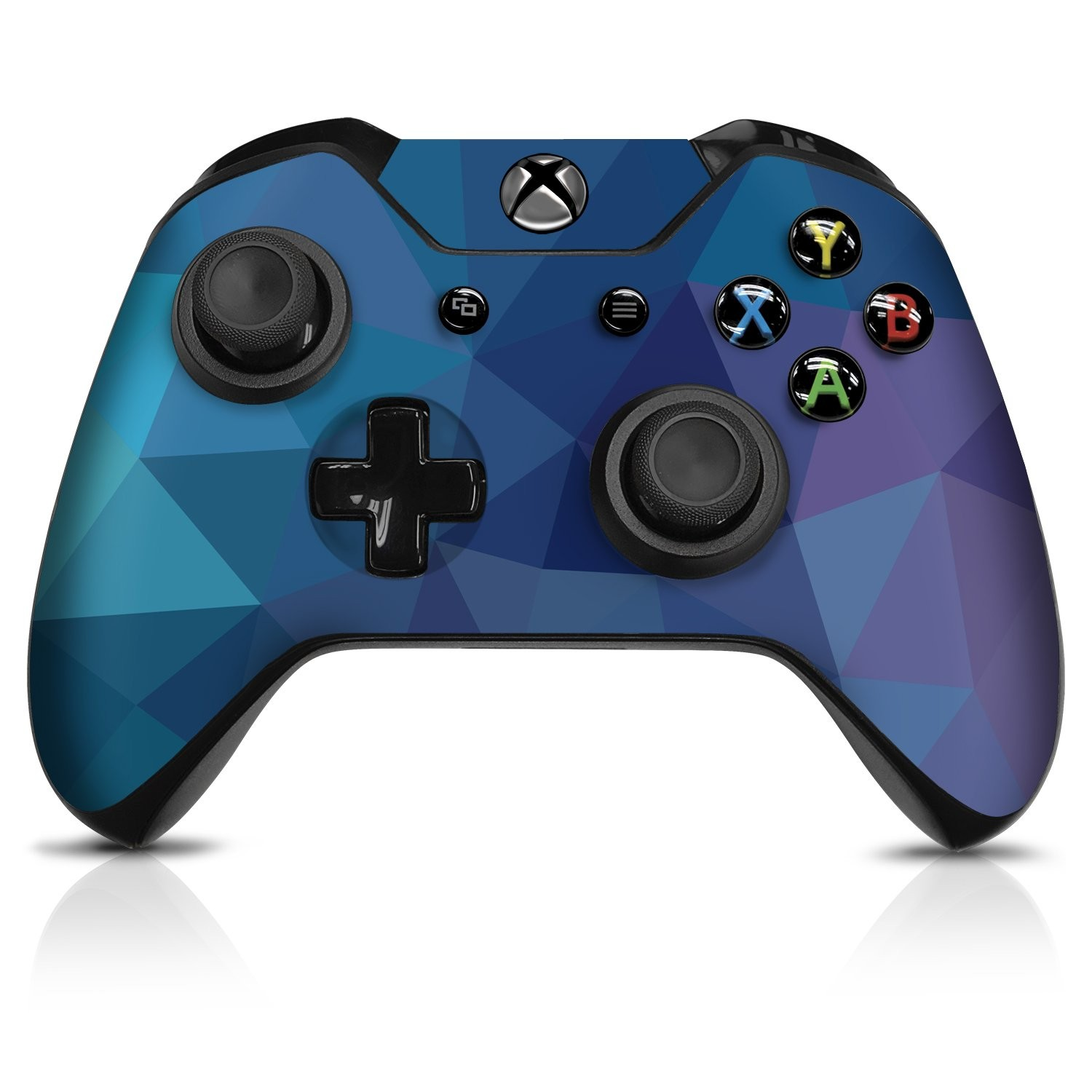 Dark Blue Poly  Xbox One Controller Skin - Officially Licensed by Xbox - Controller Gear