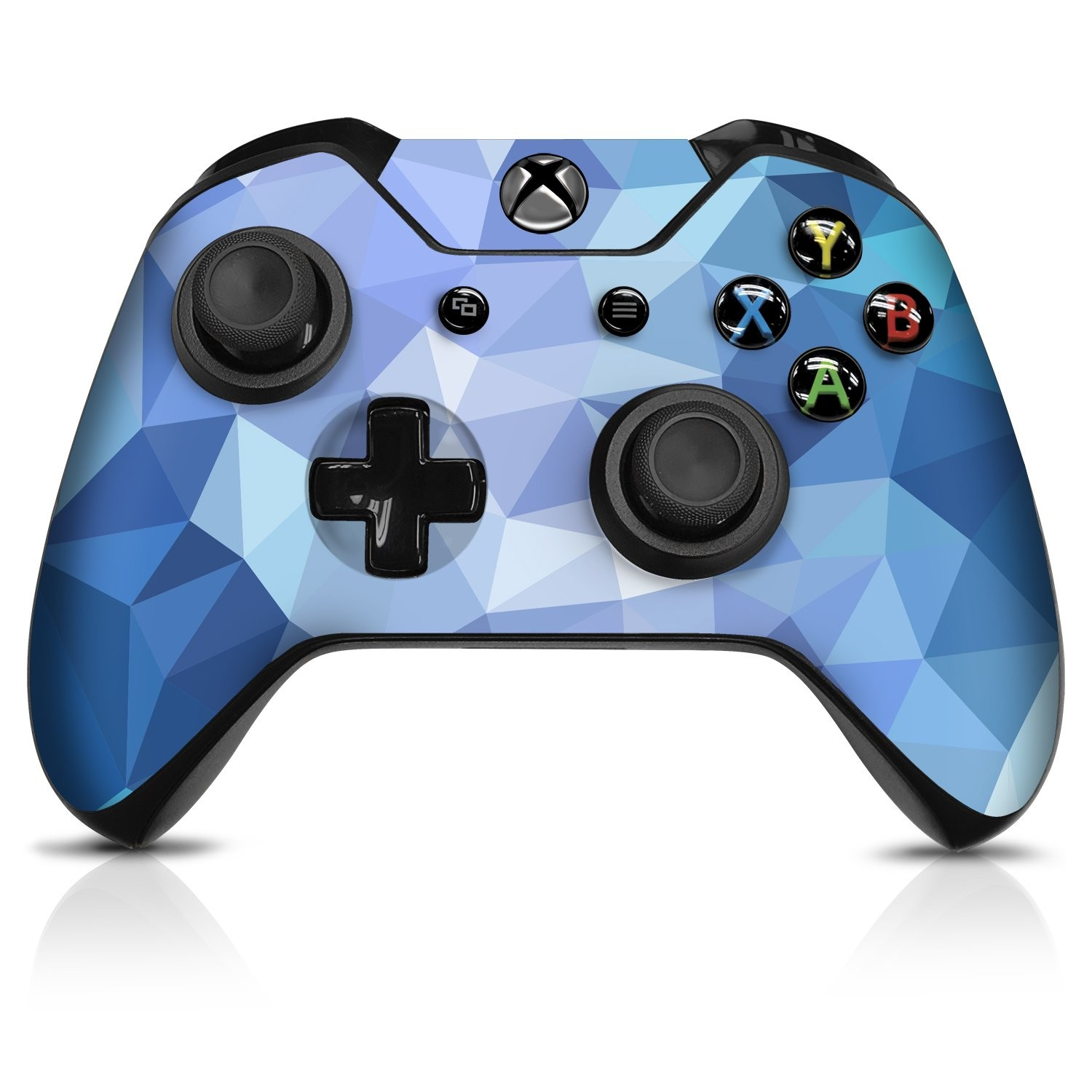 Blue Poly Xbox One Controller Skin - Officially Licensed by Xbox - Controller Gear