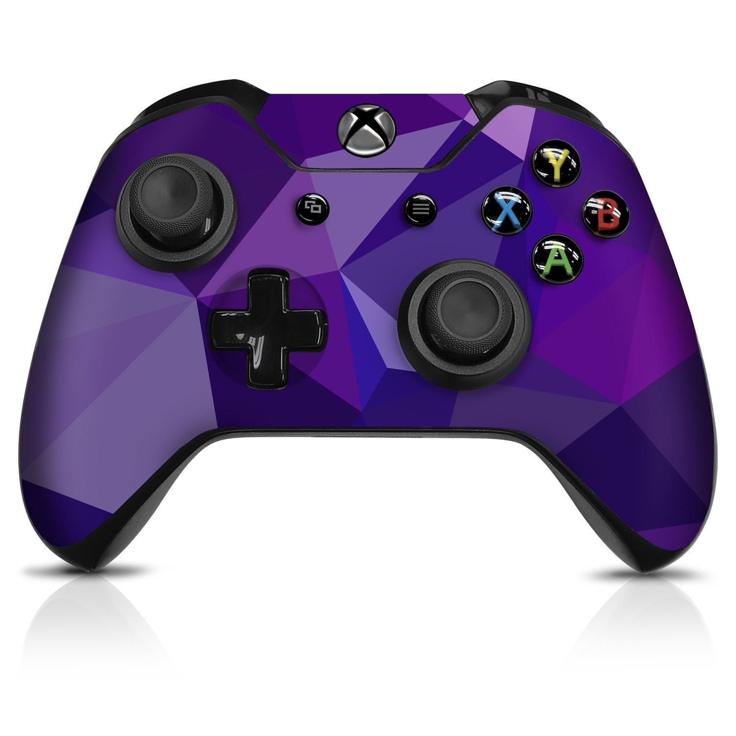 Purple Poly  Xbox One Controller Skin - Officially Licensed by Xbox - Controller Gear
