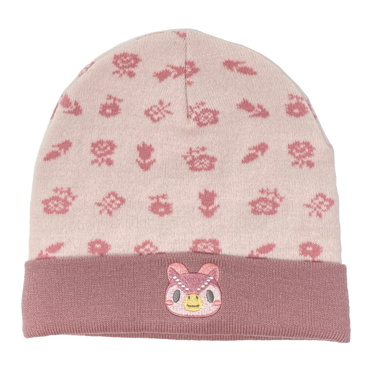 Officially Licensed Animal Crossing: New Horizons - Celeste Floral Knit Beanie Foldover and Tom Nook Beanie [2 Pack]