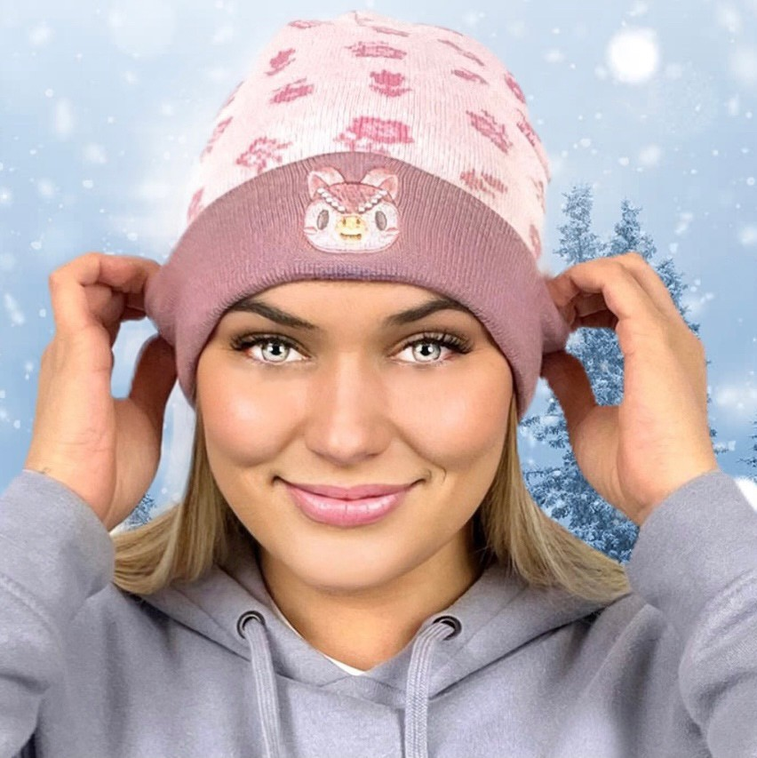 Authentic and Officially Licensed Animal Crossing: New Horizons - Celeste Floral Knit Beanie Foldover [2 Pack]