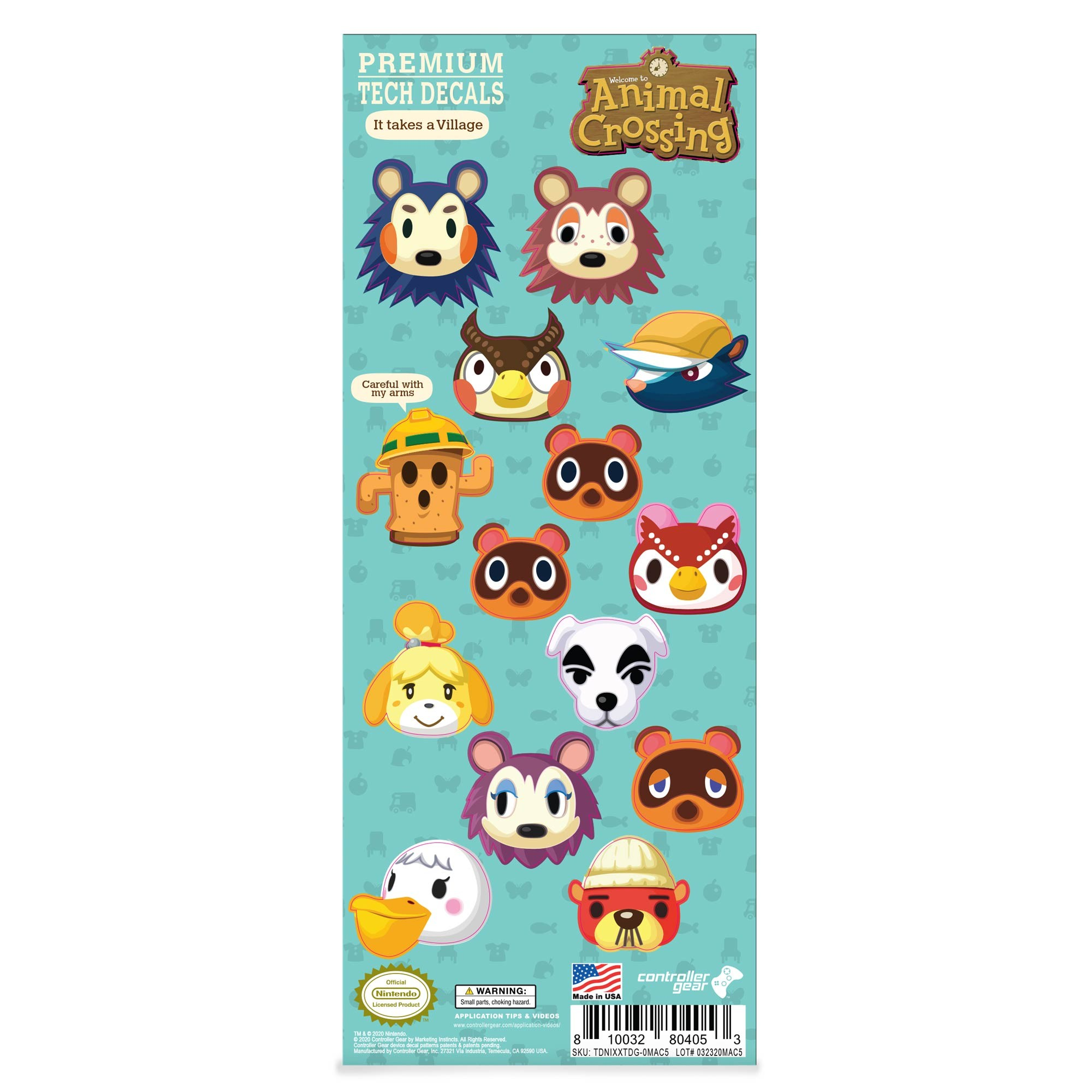 New Horizons Merch Collectors Gift Set - Sling Bag, Switch + Switch Lite Skins, Beanie, Socks, Pins - Nintendo Switch