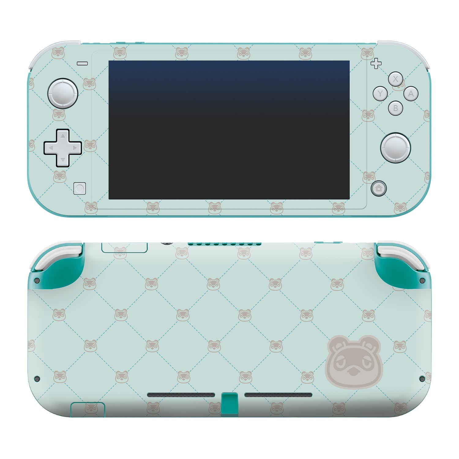 Animal Crossing: New Horizons - Tom Nook Quilted - Nintendo Switch Lite Skin image 1