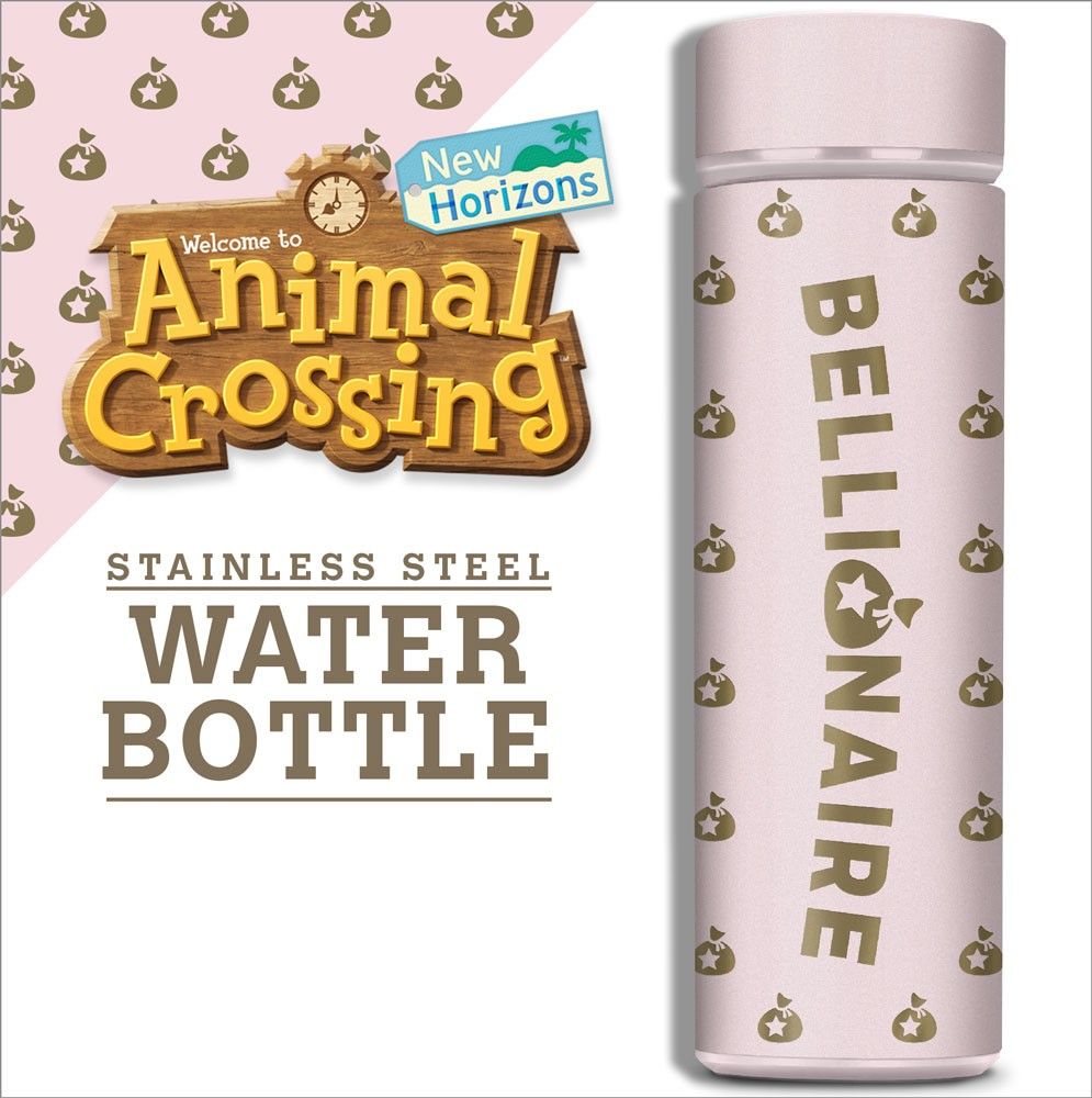 Animal Crossing Rose Gold Vacuum Insulated Stainless Steel Water Bottle