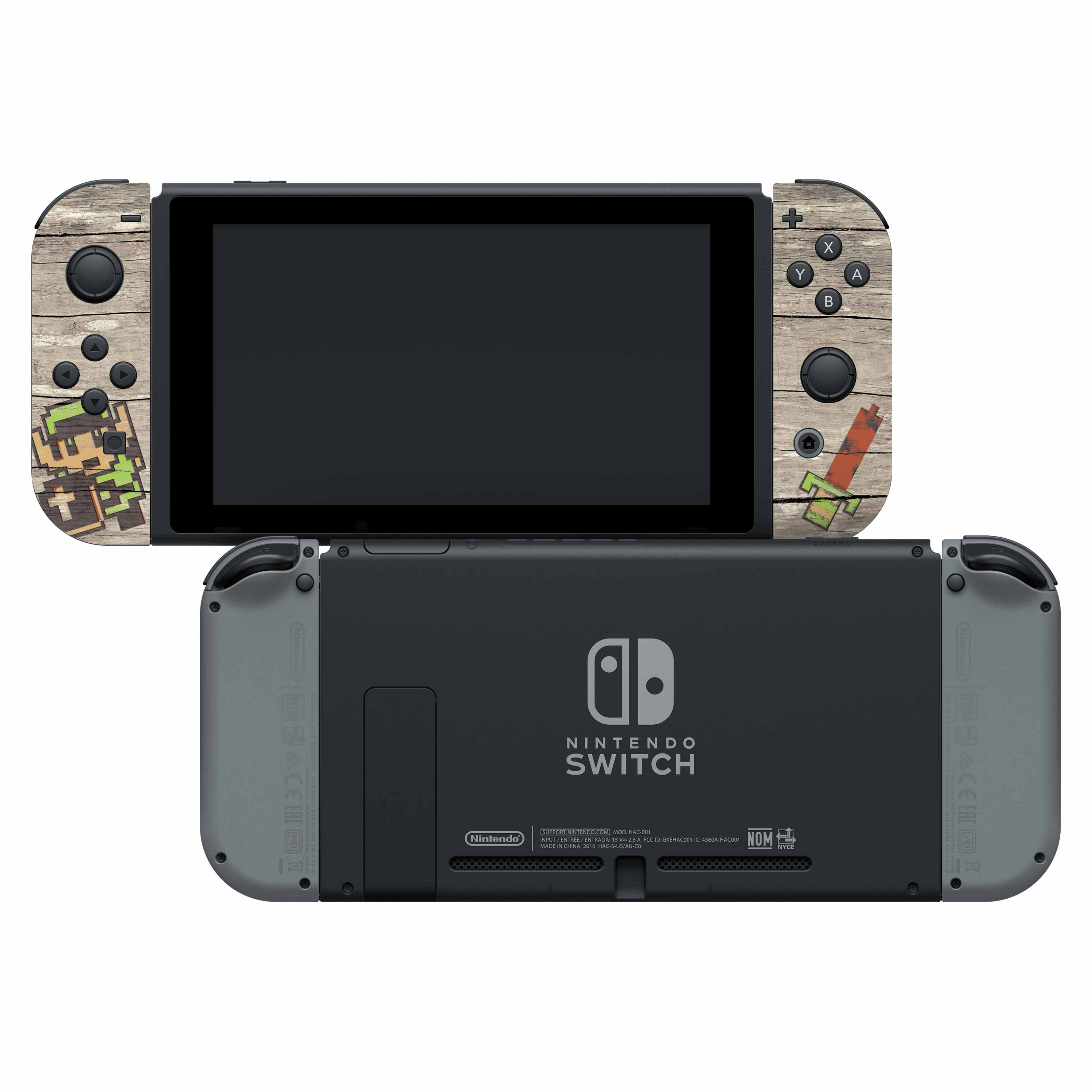"The Legend Of Zelda™ ""Retro Woodgrain"" Nintendo Switch™ Joy-Con™ Skin + Joy-Con™ Grip Skin + Screen Protector Assortment, Officially Licensed by Nintendo"