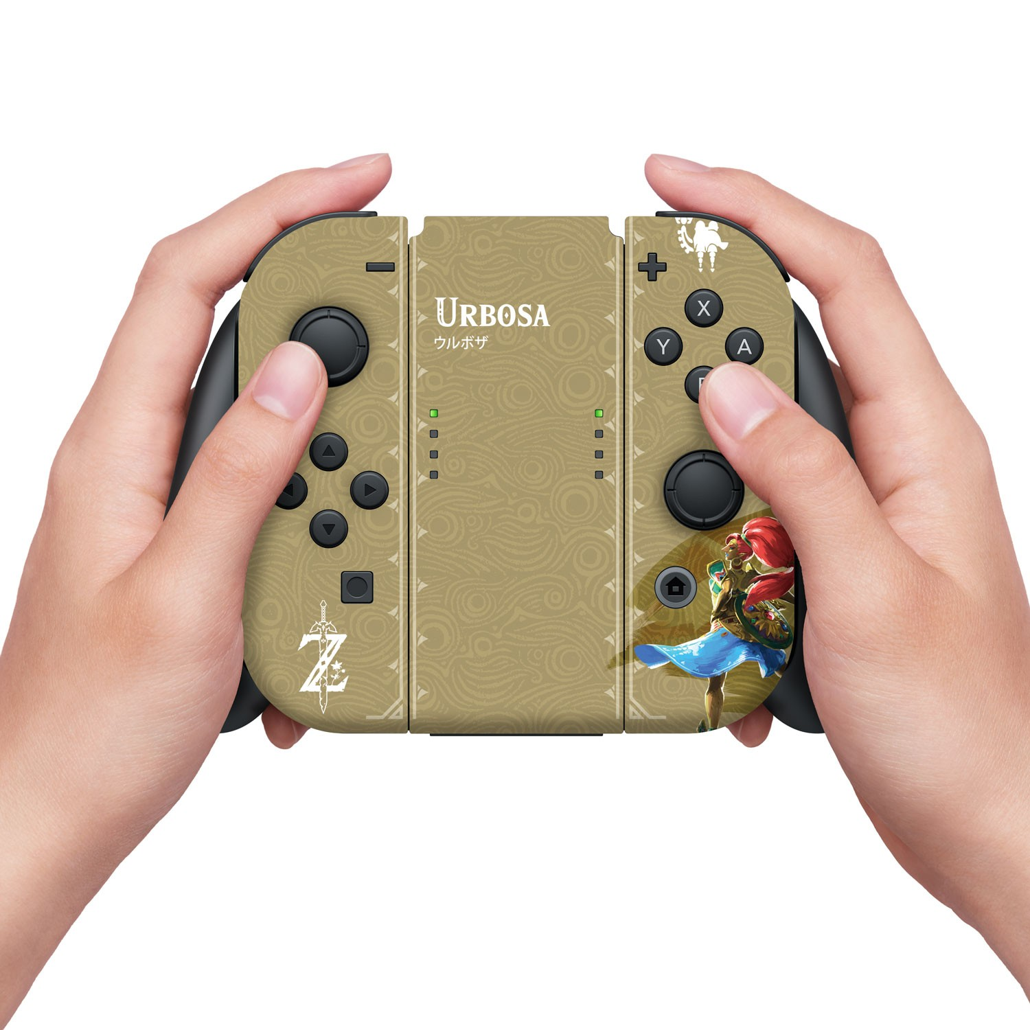 Nintendo Switch Skin & Skin Protector Set Officially Licensed by Nintendo - The Legend of Zelda: Breath of the Wild: Gold Urbosa