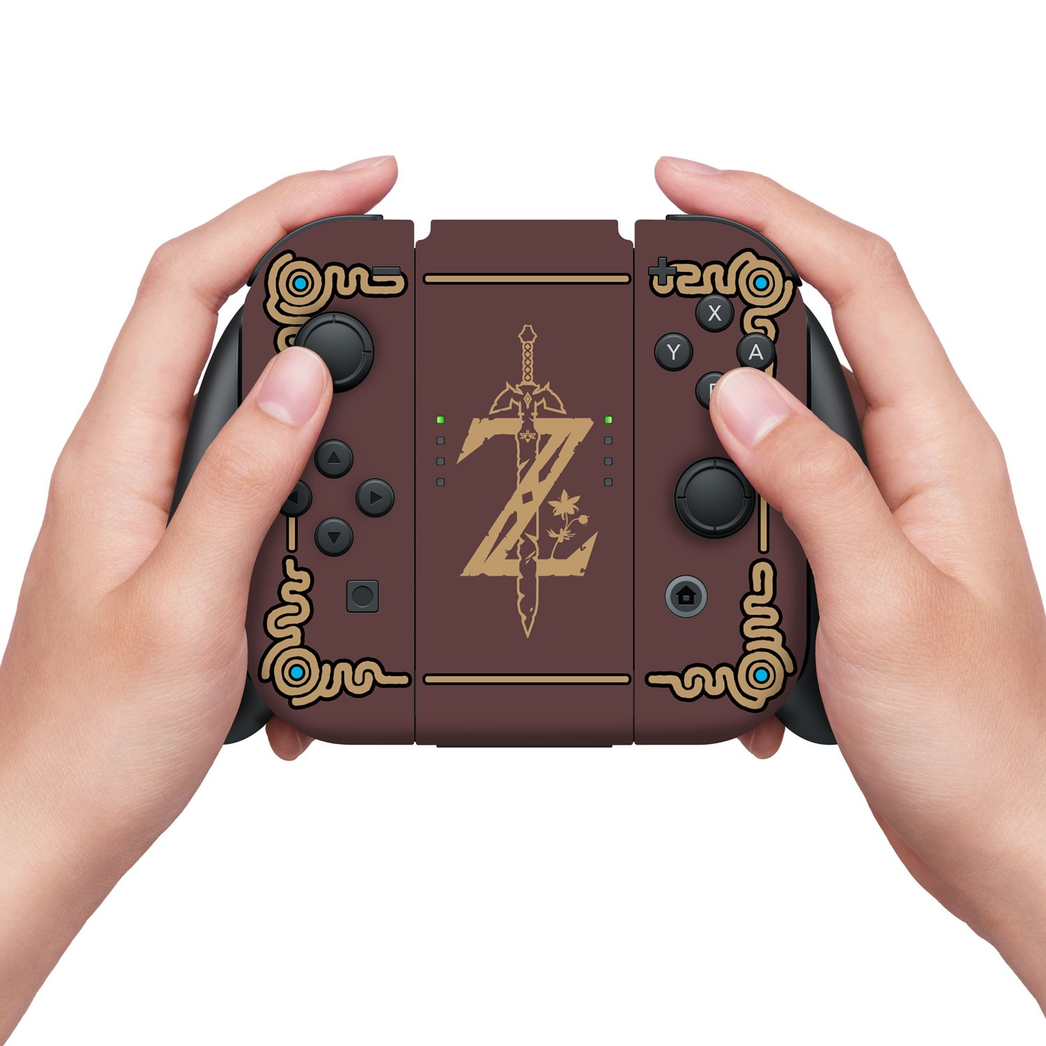 "Nintendo Switch Skin & Screen Protector Set, Officially Licensed by Nintendo - The Legend of Zelda: Breath of the Wild: ""Sheikah Slate"" - Joy-Con Only"