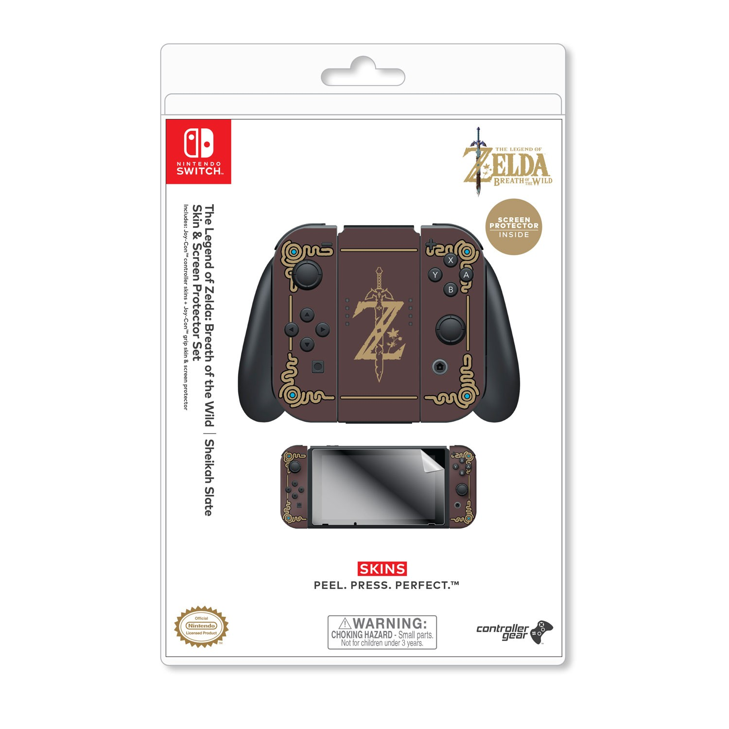Nintendo Switch Skin & Screen Protector Set, Officially Licensed by  Nintendo - The Legend of Zelda: Breath of the Wild: