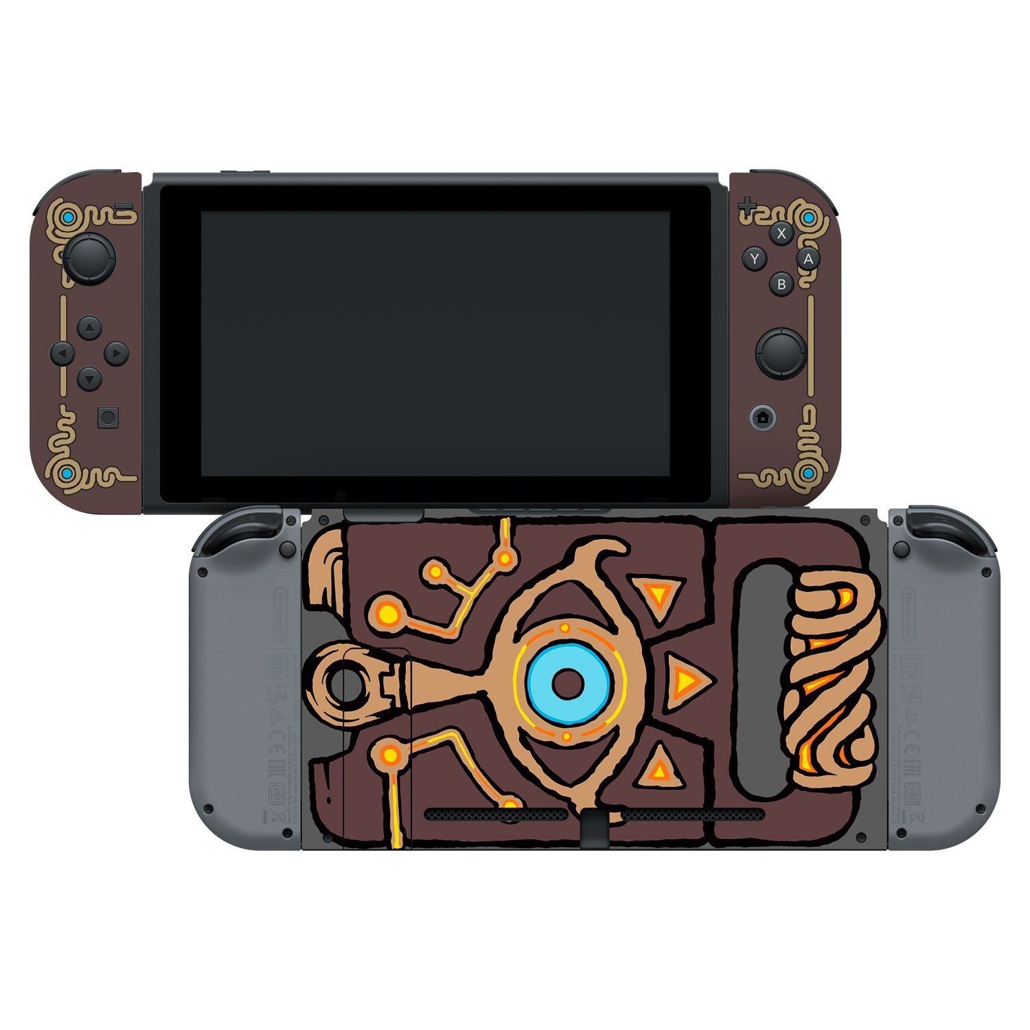 Nintendo Switch Skin & Screen Protector Set Officially Licensed by Nintendo - The Legend of Zelda: Breath of the Wild: Sheikah Slate