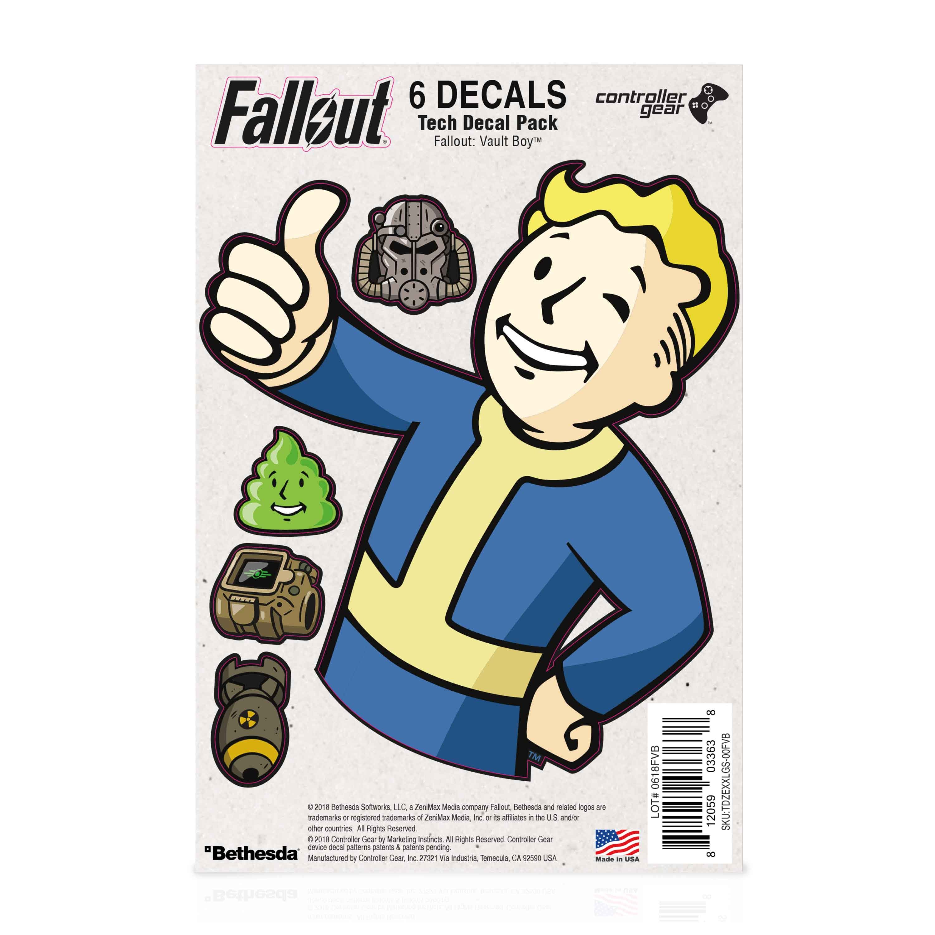 Fallout: Vault Boy- Large Character Tech Skin Pack - Officially Licensed by Bethesda