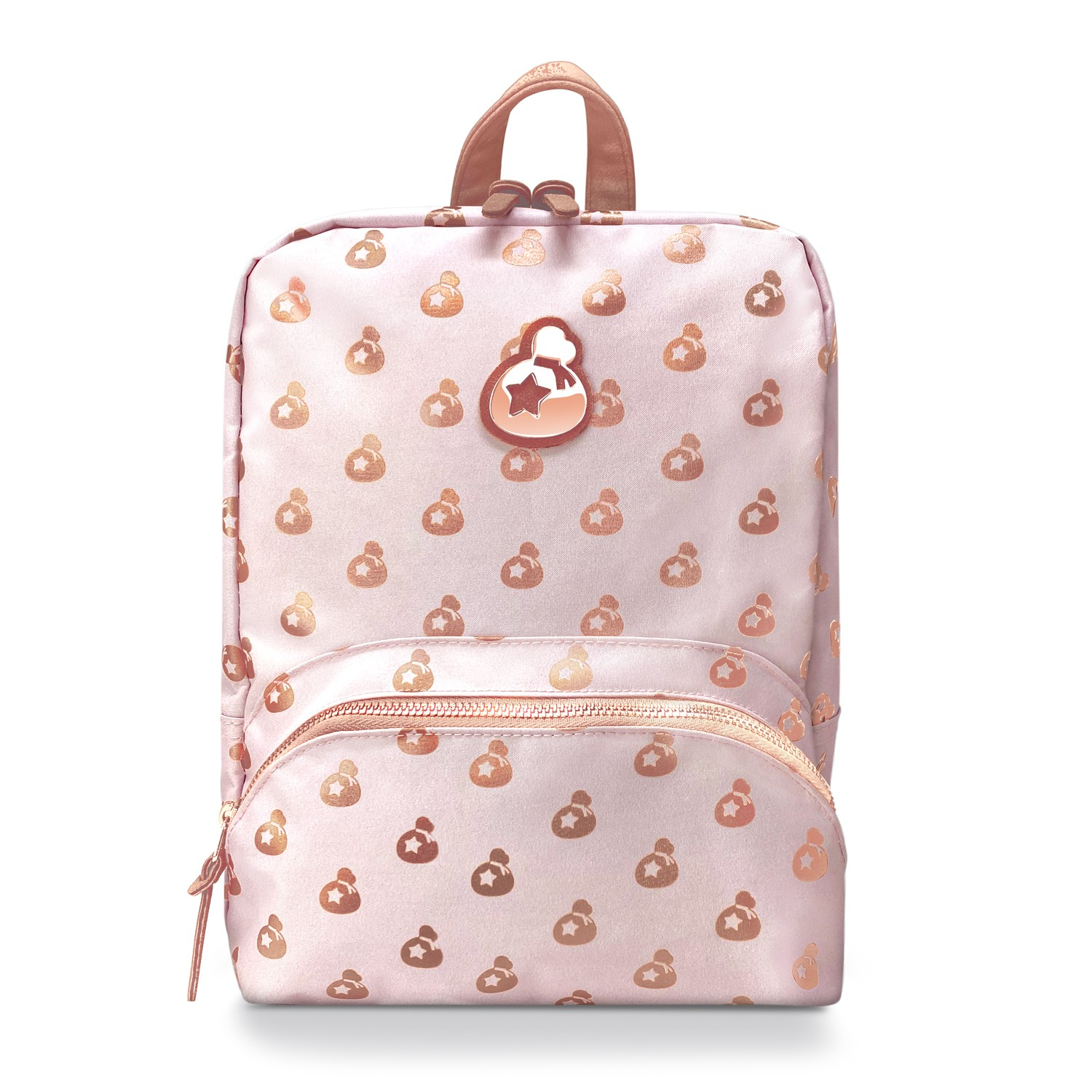 Official Nintendo Animal Crossing Collectors Set New Horizons: Rose Gold Island Mini Backpack Switch Case, Celeste Floral Knit Beanie Foldover