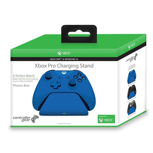 Controller Gear Xbox Pro Charging Stand Photon Blue. Exact match to your Xbox one / S Controller. Officially Licensed and Designed for Xbox
