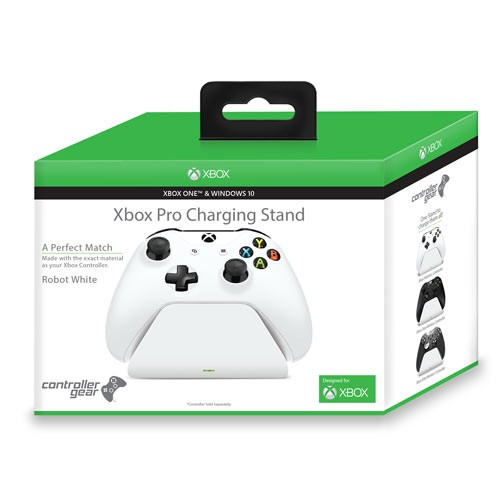 Controller Gear Xbox Pro Charging Stand Robot White. Exact match to your Xbox one / S Controller. Officially Licensed and Designed for Xbox