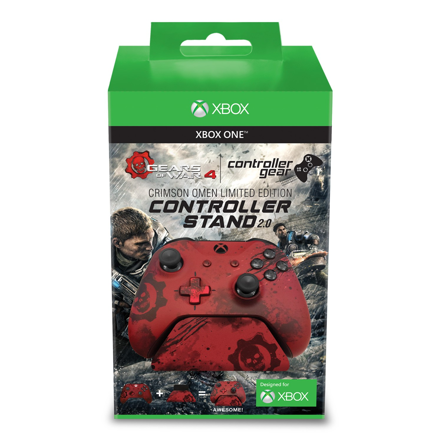 Gears of War 4 Crimson Omen - Limited Edition Controller Standᅠv2.0 - Red