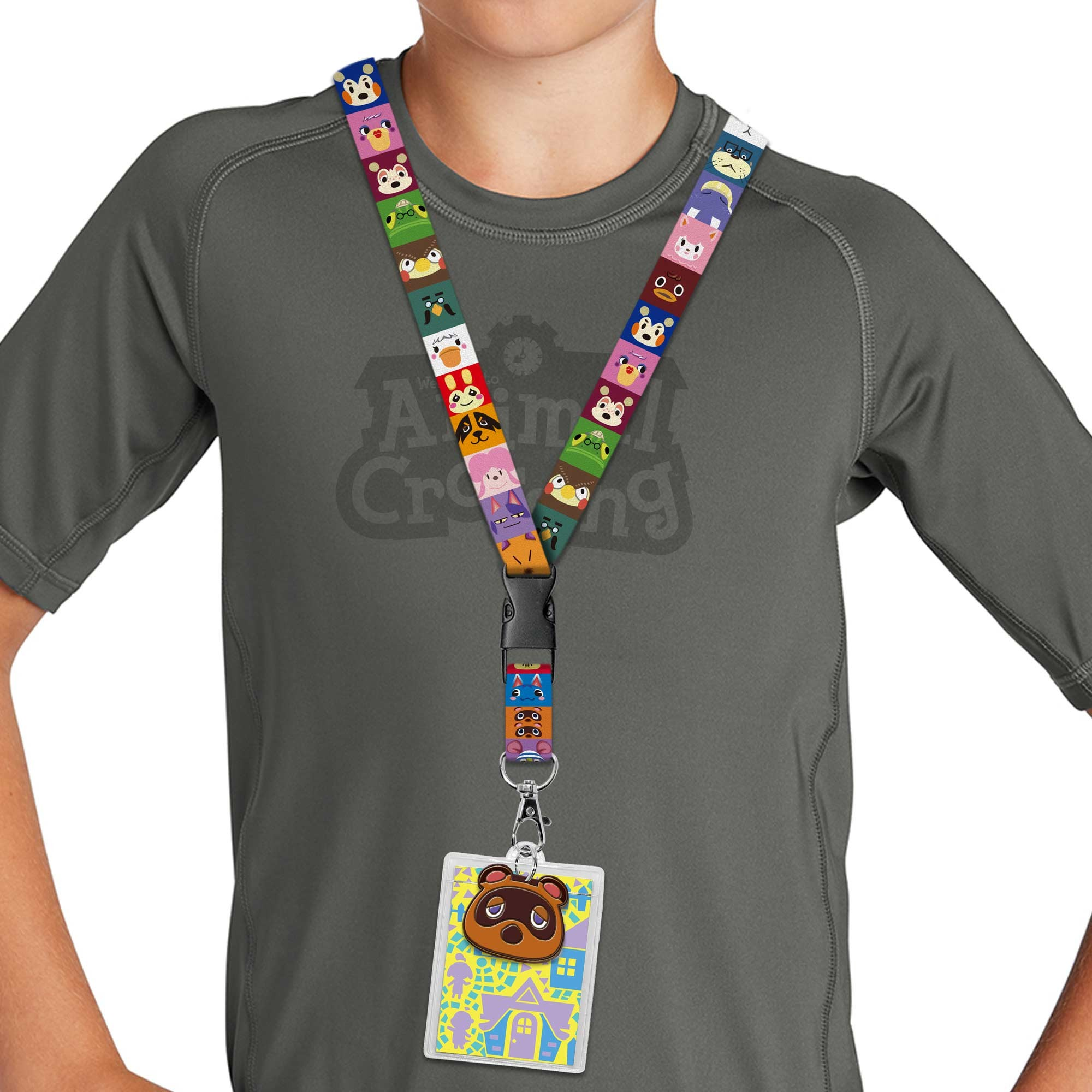 Tom Nook & Friends Faces Lanyard Image 1