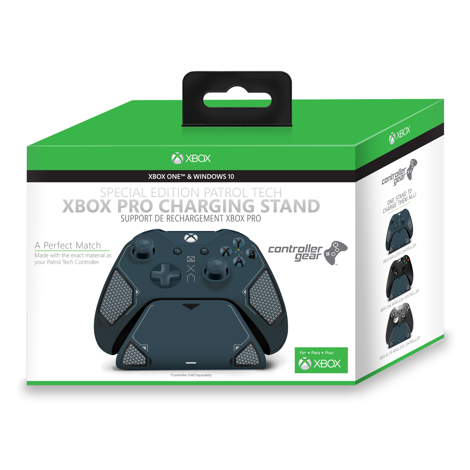Patrol Tech Xbox Pro Charging Stand. Exact match to your Xbox One Patrol Tech Controller. Officially Licensed and Designed for Xbox