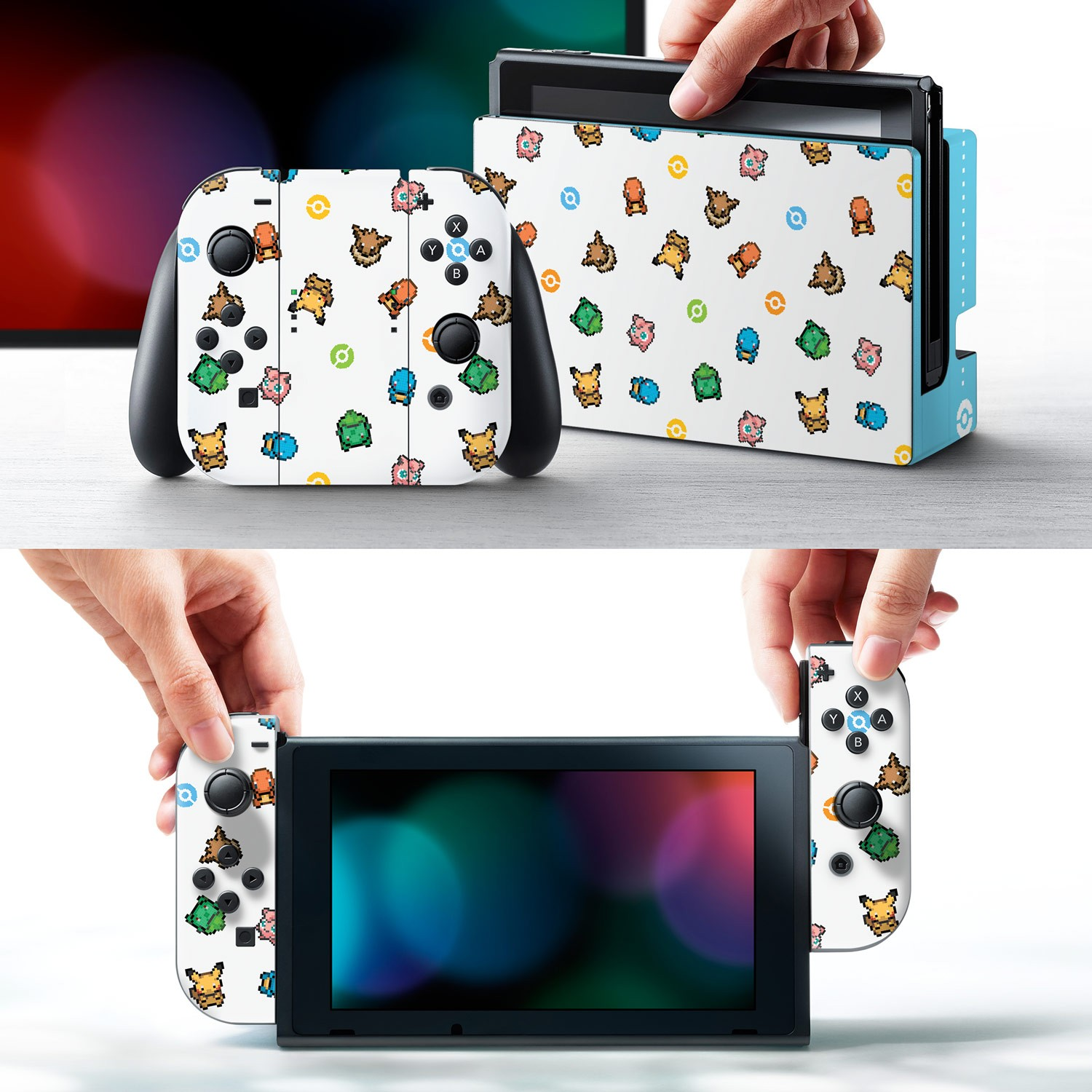 Nintendo Switch Skin, Pokemon Pixel Set 1 Image 1