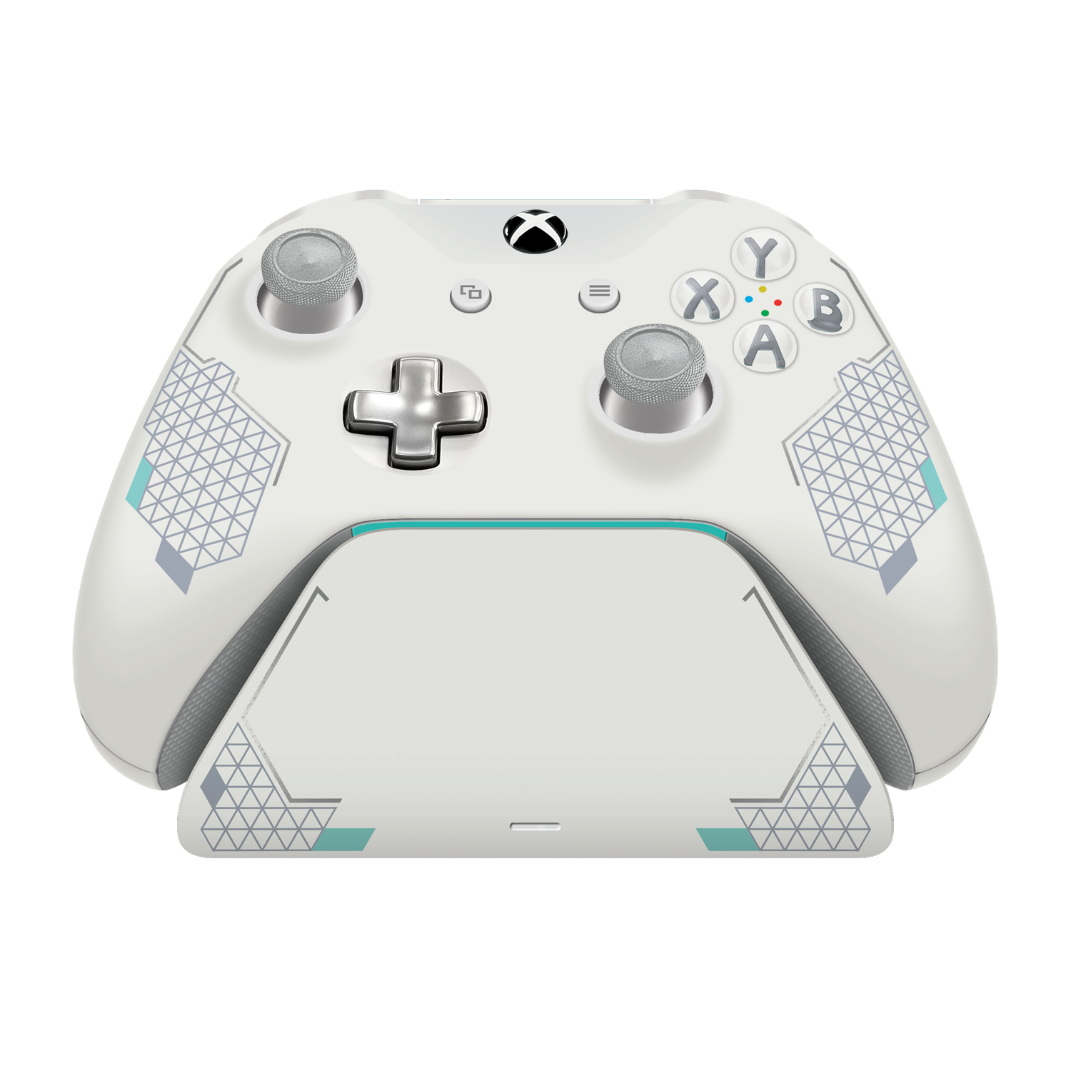Sport White Special Edition Xbox Pro Charging Stand  Exact match to your  Xbox One Sport White Controller  Officially Licensed and Designed for Xbox