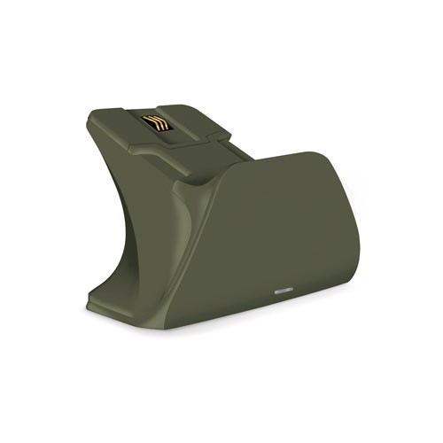 Xbox Pro Controller Charging Stand with a Military Green Design, Image 1