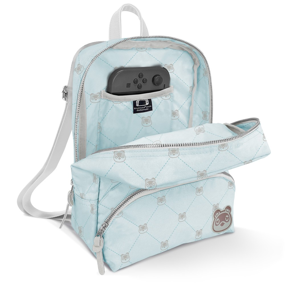 Controller Gear Animal Crossing: New Horizons Bag & Mini Backpack for Women, Girl's, Kids. Nintendo Switch, Lite Case, Accessories, Travel Bag, Carrying Case. Tom Nook Quilted