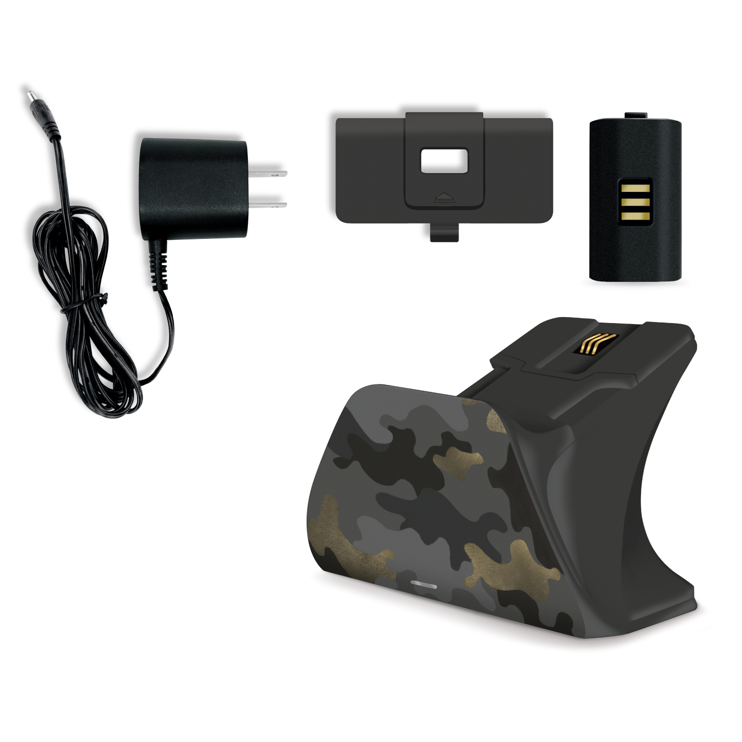 Xbox Pro Controller Charging Stand with a Night Ops Camo Special Edition Design, Image 1