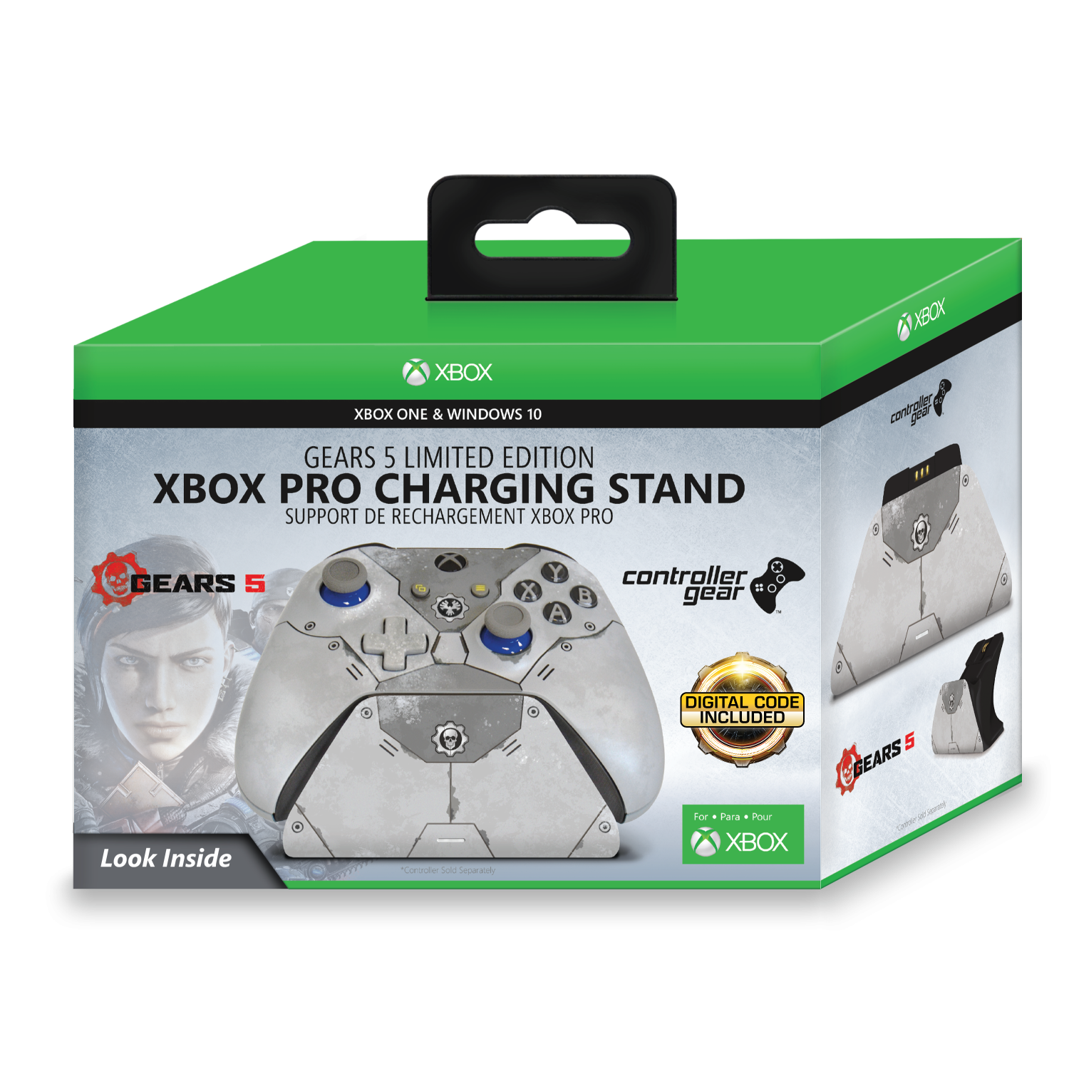 Xbox Pro Controller Charging Stand with a Gears 5 Kait Diaz Limited Edition Design, Image 1