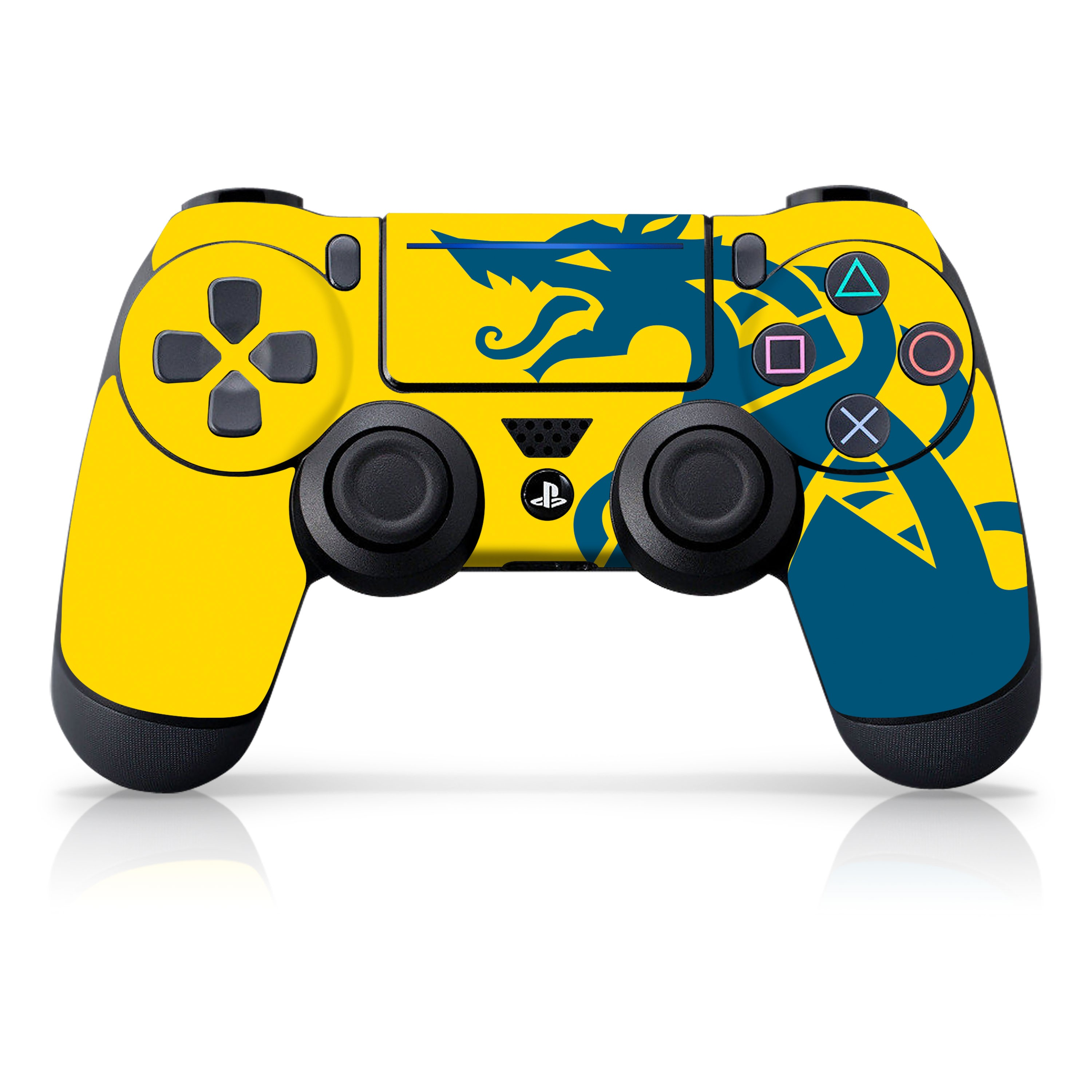 "Officially Licensed PlayStation 4 God of War DUALSHOCK 4 Wireless Controller Skin and Tech Decals ""Blue Dragon"""