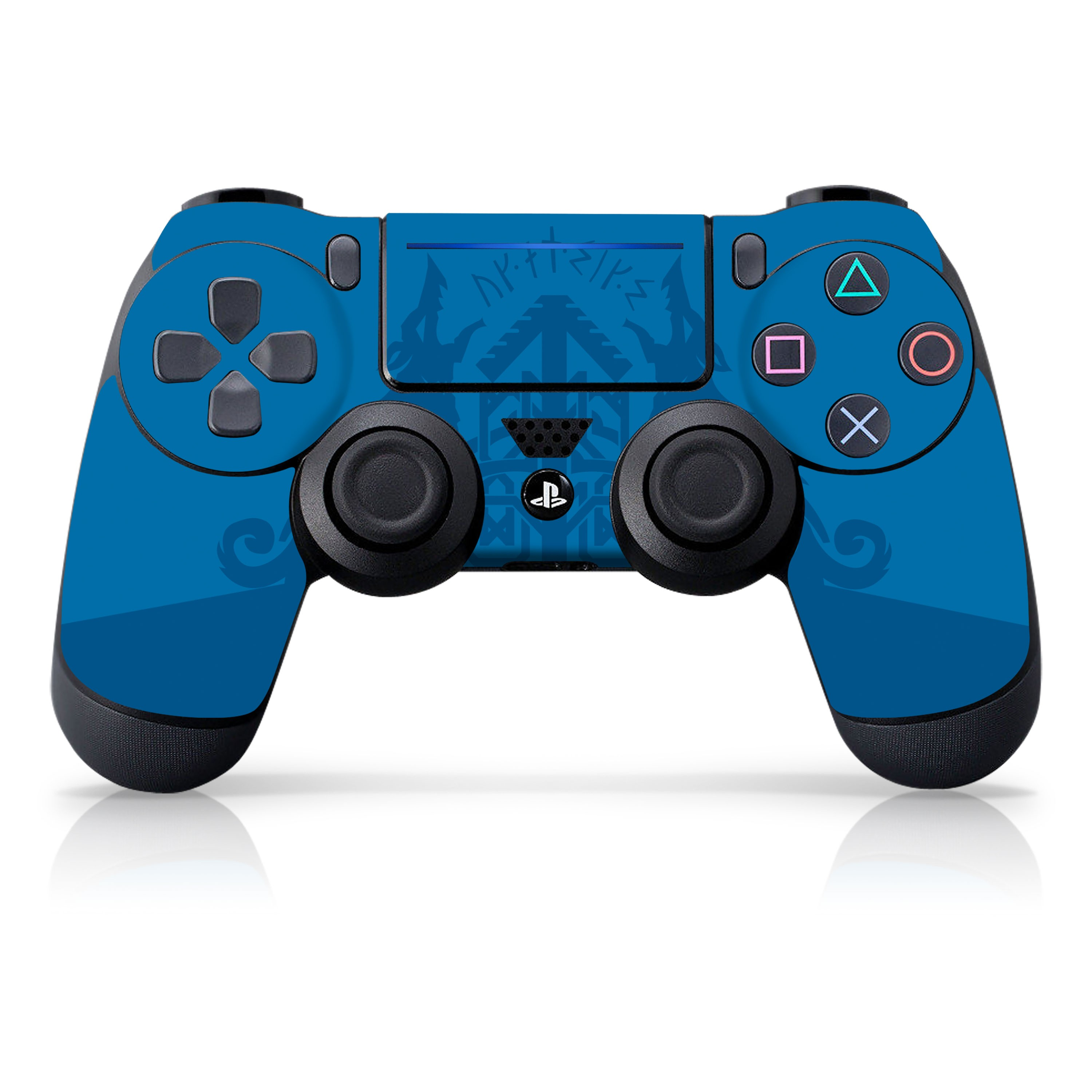 """Officially Licensed PlayStation 4 God of War DUALSHOCK 4 Wireless Controller Skin and Tech Decals """"Howling Blue"""""""