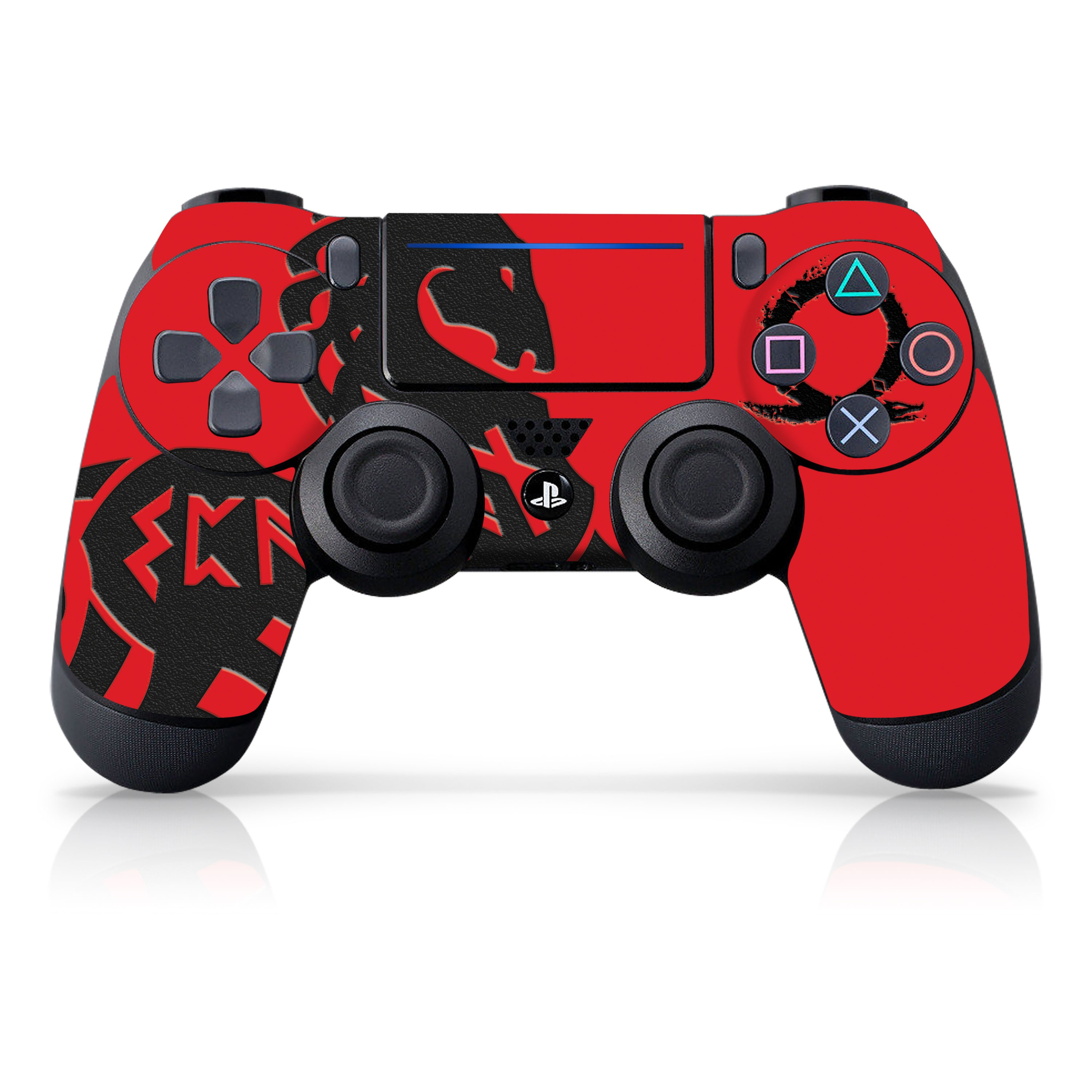 "Officially Licensed PlayStation 4 God of War DUALSHOCK 4 Wireless Controller Skin and Tech Decals ""Norse Horse"""
